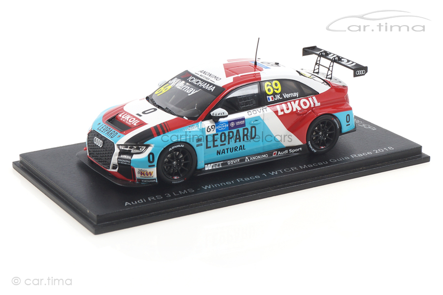 Audi RS3 LMS Winner WTCR Macau 2018 Jean-Karl Vernay Spark 1:43 SA202