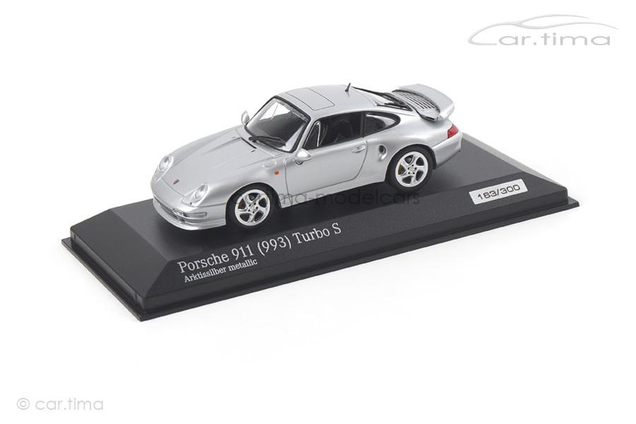 Porsche 911 (993) Turbo S Arktissilber Minichamps car.tima EXCLUSIVE 1:43 CA04316002