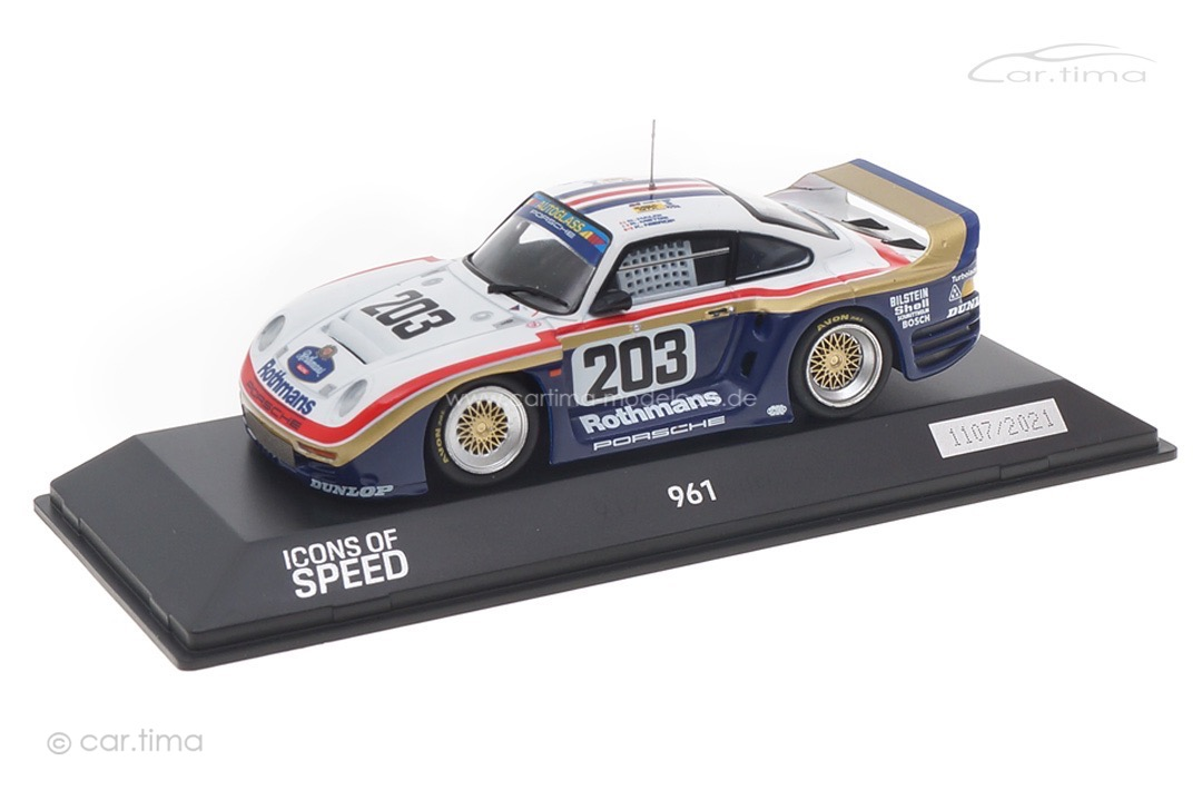 Porsche 961 24h Le Mans 1987 Haldi/Metge/Nierop Spark 1:43 WAP0209610MKED