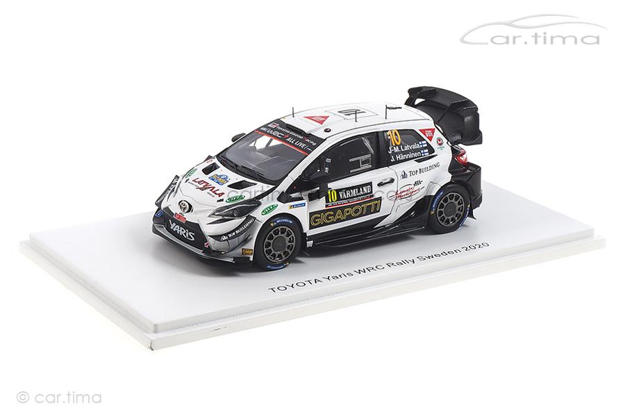 Toyota Yaris WRC Rallye Sweden 2020 Latvala/Hänninen Spark 1:43 S6570