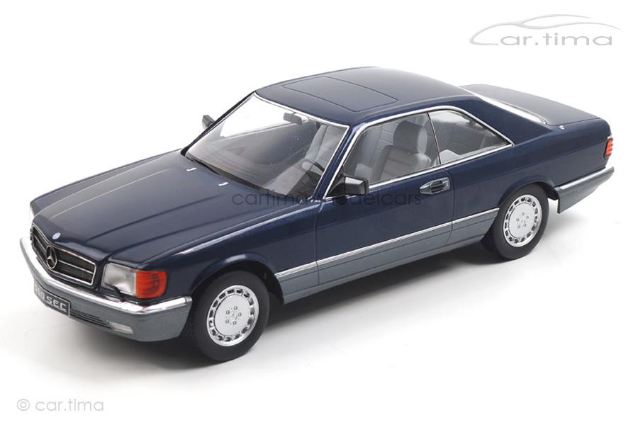 Mercedes-Benz 560 SEC C126 blau KK Scale 1:18 KKDC180333