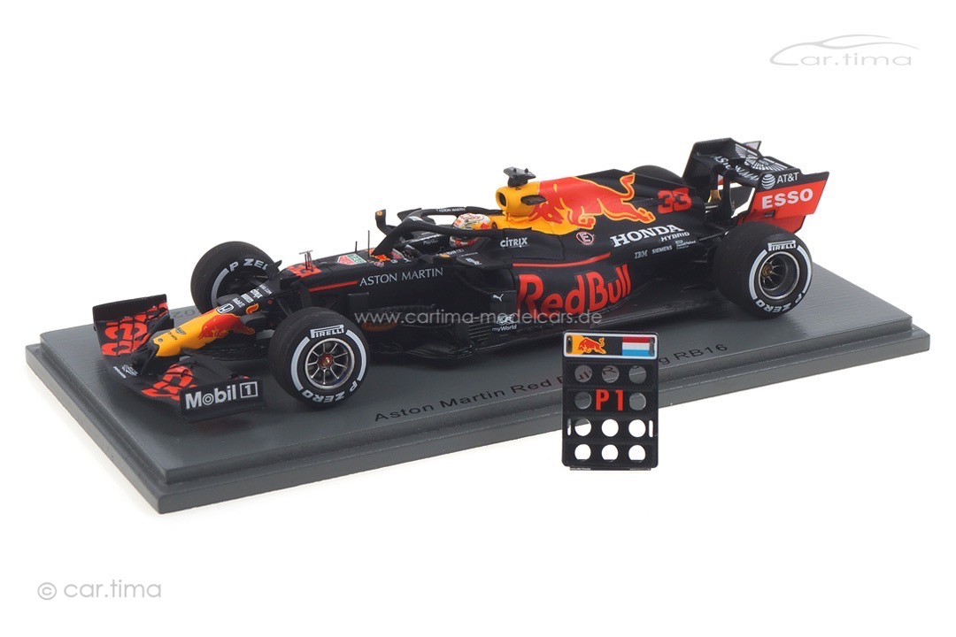Aston Martin Red Bull Racing RB16 Winner GP 70th Anniversary Max Verstappen Spark 1:43 S6479