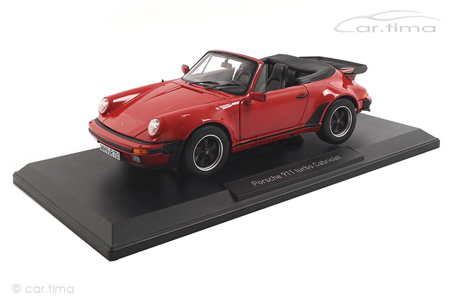 Porsche 911 (930) Turbo Cabriolet 3.3 Indischrot Norev 1:18 187664