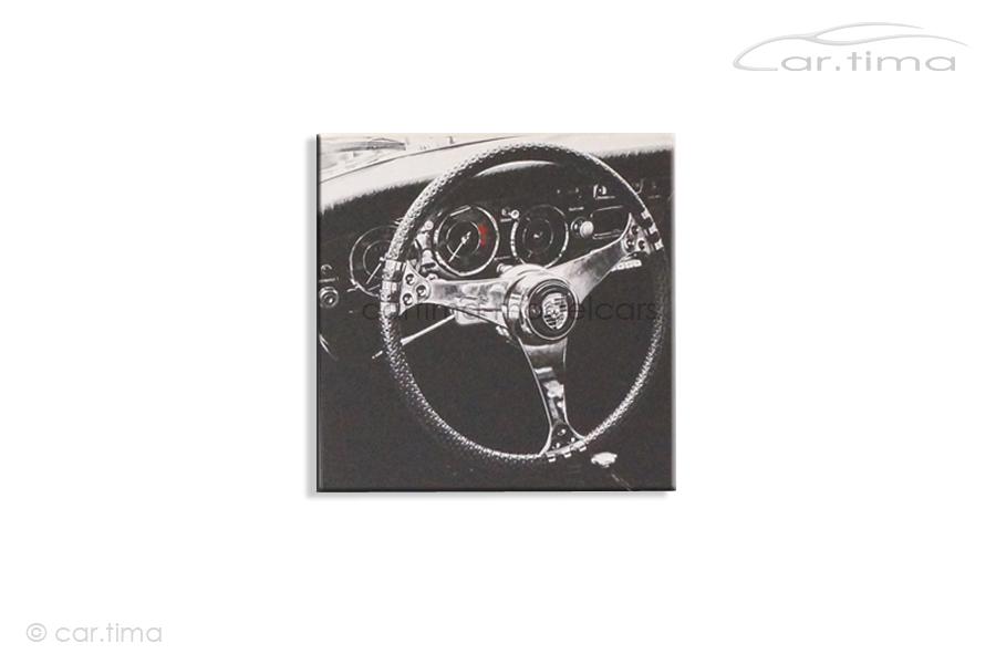 Kunstdruck auf Leinwand/Keilrahmen Porsche 356 Interior 45x45 cm