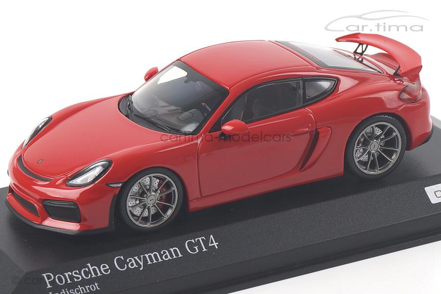 Porsche Cayman GT4 Indischrot Minichamps 1:43 CA04316069