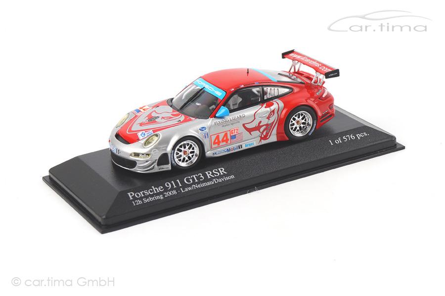 Porsche 911 (997) GT3 RSR 12h Sebring 2008 Davison/Law/Neiman Minichamps 1:43 400087844