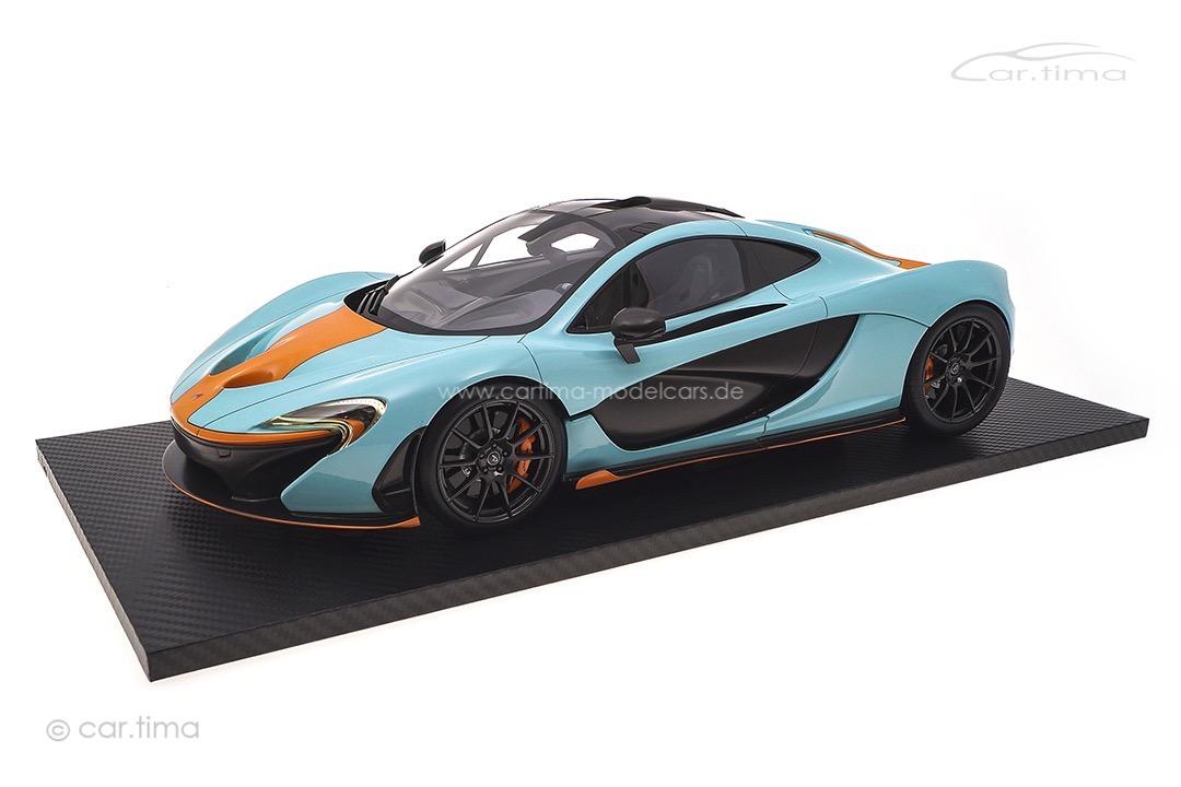 McLaren P1 Gulfblau/orange TSM 1:12 TSM161203