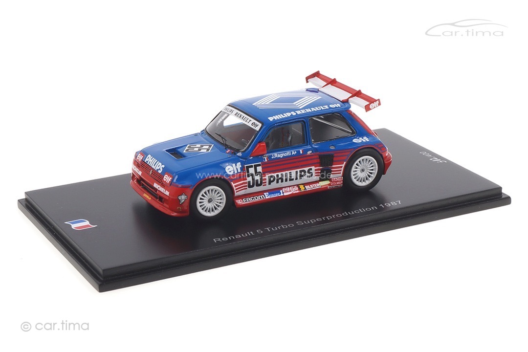 Renault 5 Turbo Superproduction 1987 Jean Ragnotti Spark 1:43 SF136