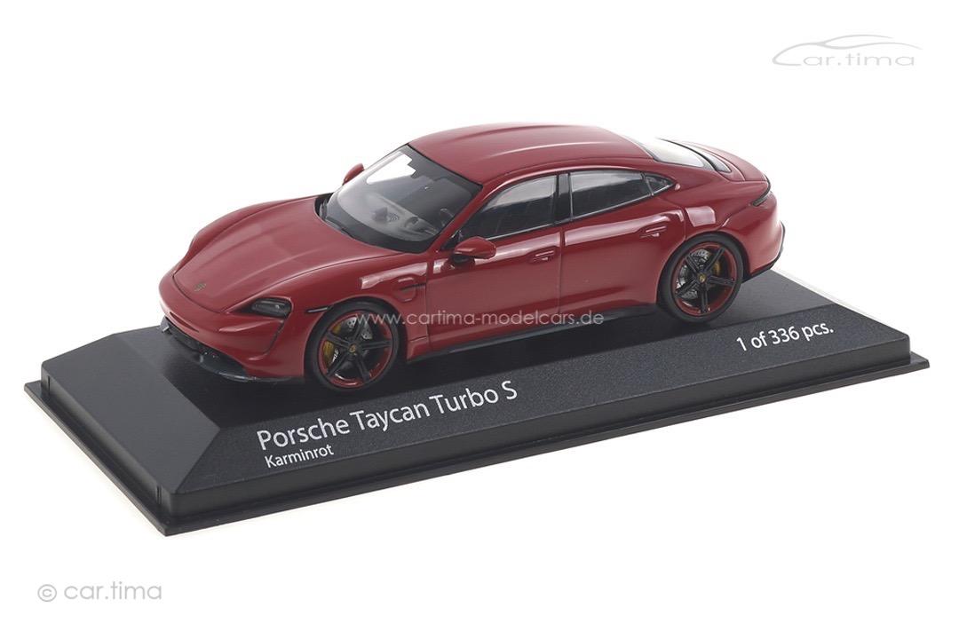 Porsche Taycan Turbo S Karminrot Minichamps 1:43 410068472