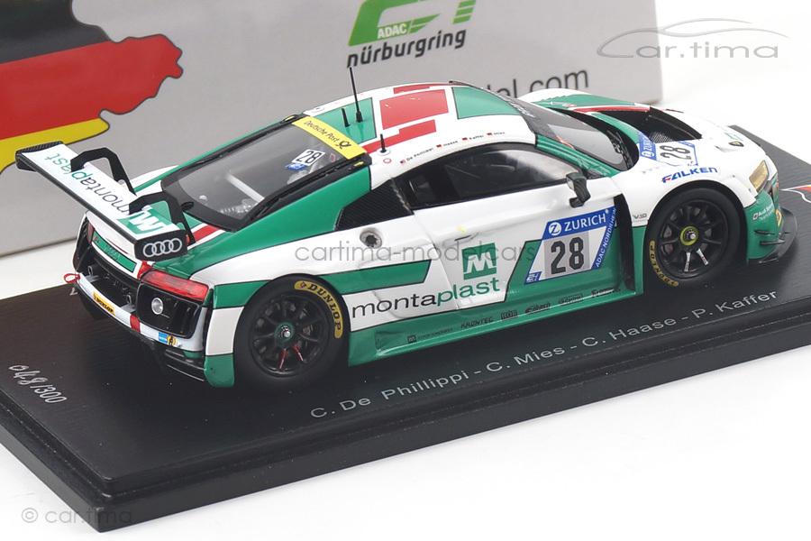 Audi R8 LMS 24h Nürburgring 2017 De Phillippi/Haase/Mies/Kaffer Spark 1:43 SG298