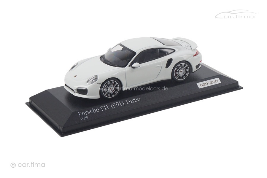 Porsche 911 (991) Turbo Weiß/Interieur schwarz Turbo Set Minichamps 1:43 CA04316058
