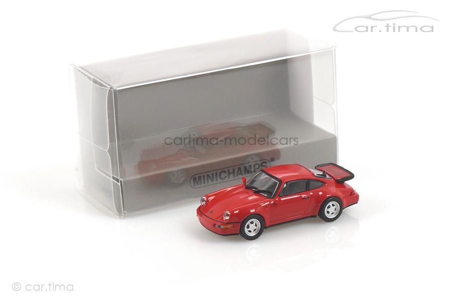Porsche 911 (964) Turbo Indischrot Minichamps 1:87 870069100