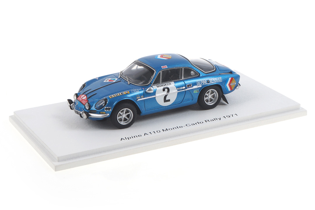 Alpine A110 Rallye Monte Carlo 1971 Nicolas/Roure Spark 1:43 S6108