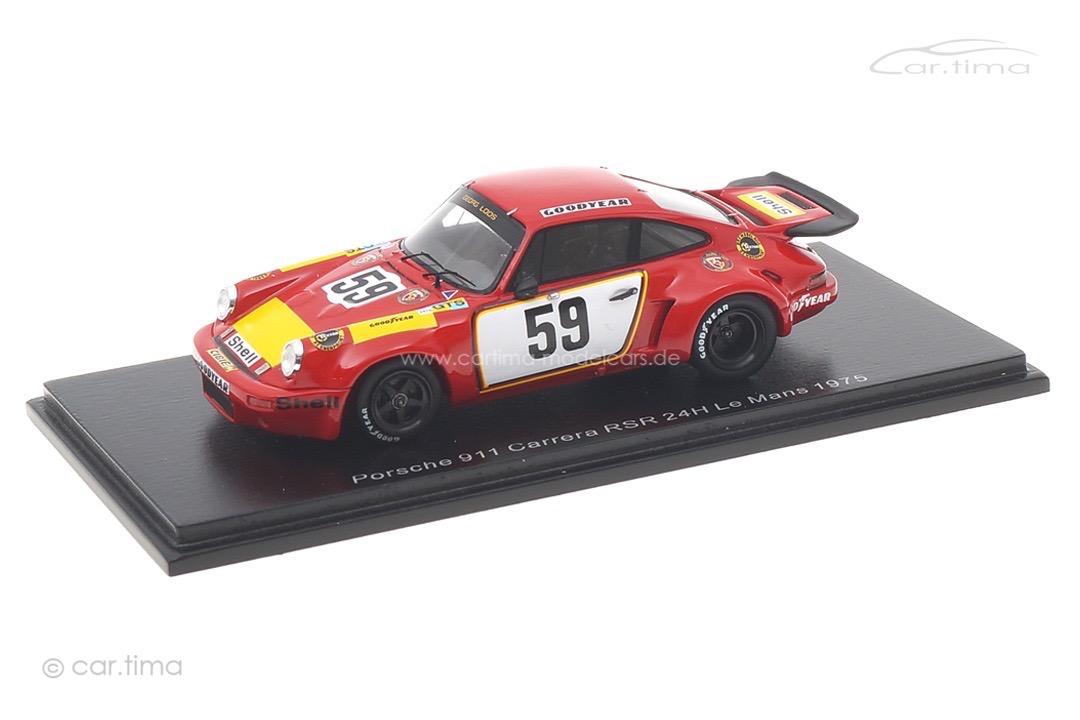 Porsche 911 Carrera RSR 24h Le Mans 1975 Ganley/Schenken Spark 1:43 S9974