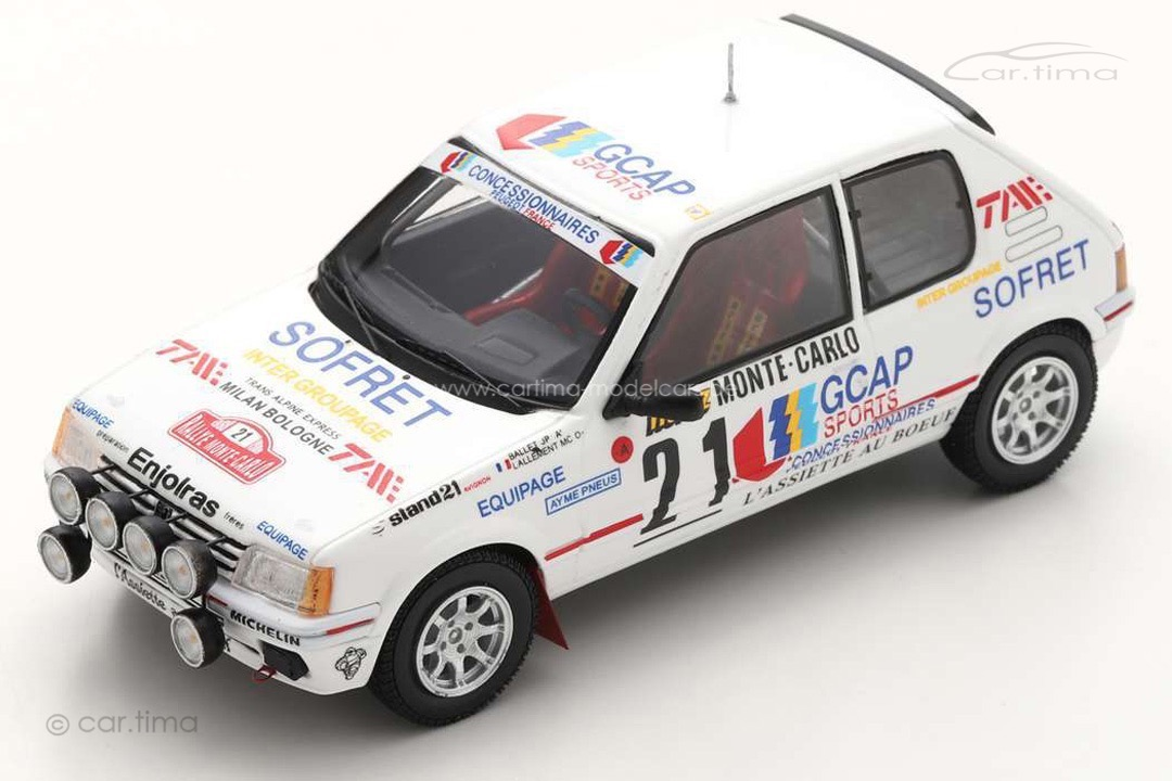 Peugeot 205 GTI Rally Monte Carlo 1988 Ballet/Lallement Spark 1:43 S9453