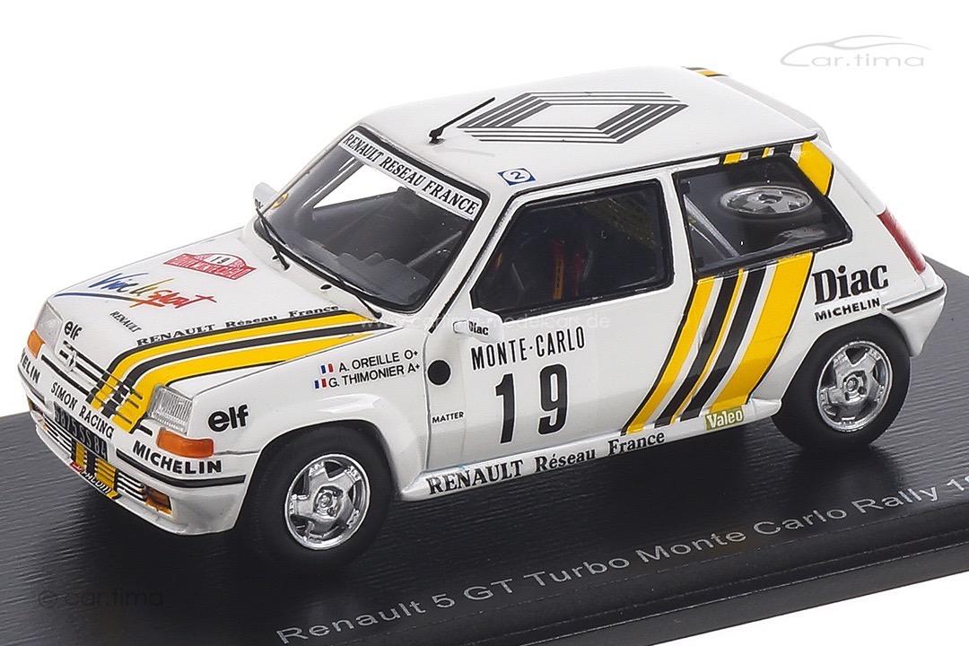 Renault 5 GT Turbo Rallye Monte Carlo 1989 Oreille/Thimonier Spark 1:43 S5565