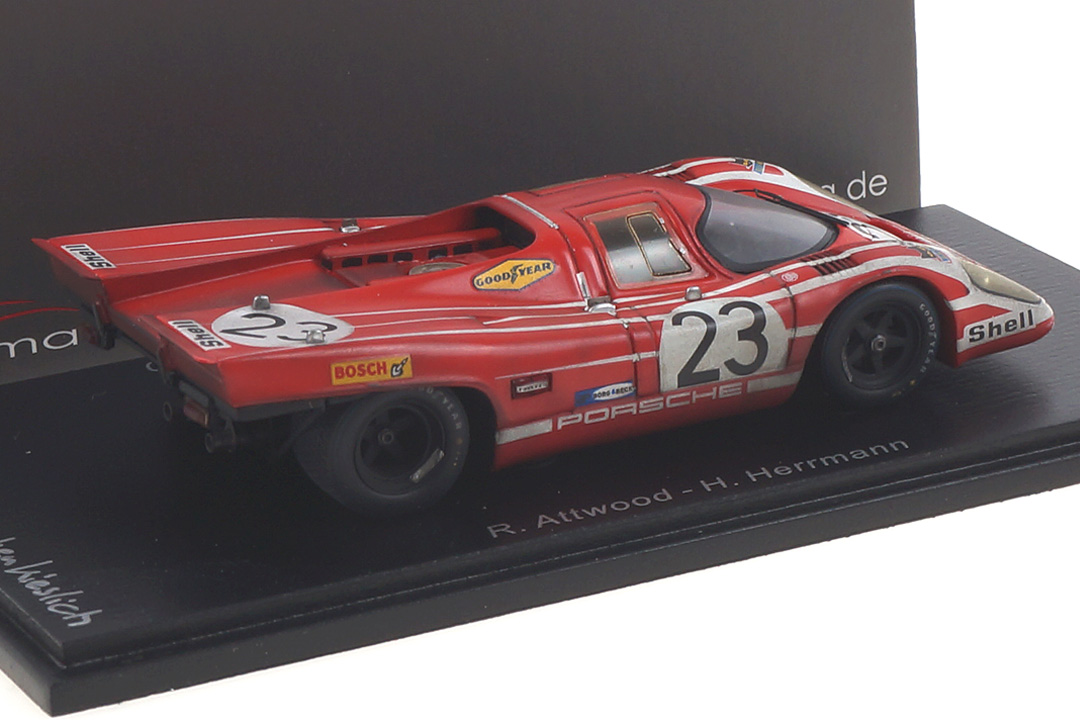 Porsche 917 Winner 24h Le Mans 1970 Attwood/Herrmann car.tima FINISH LINE 1:43