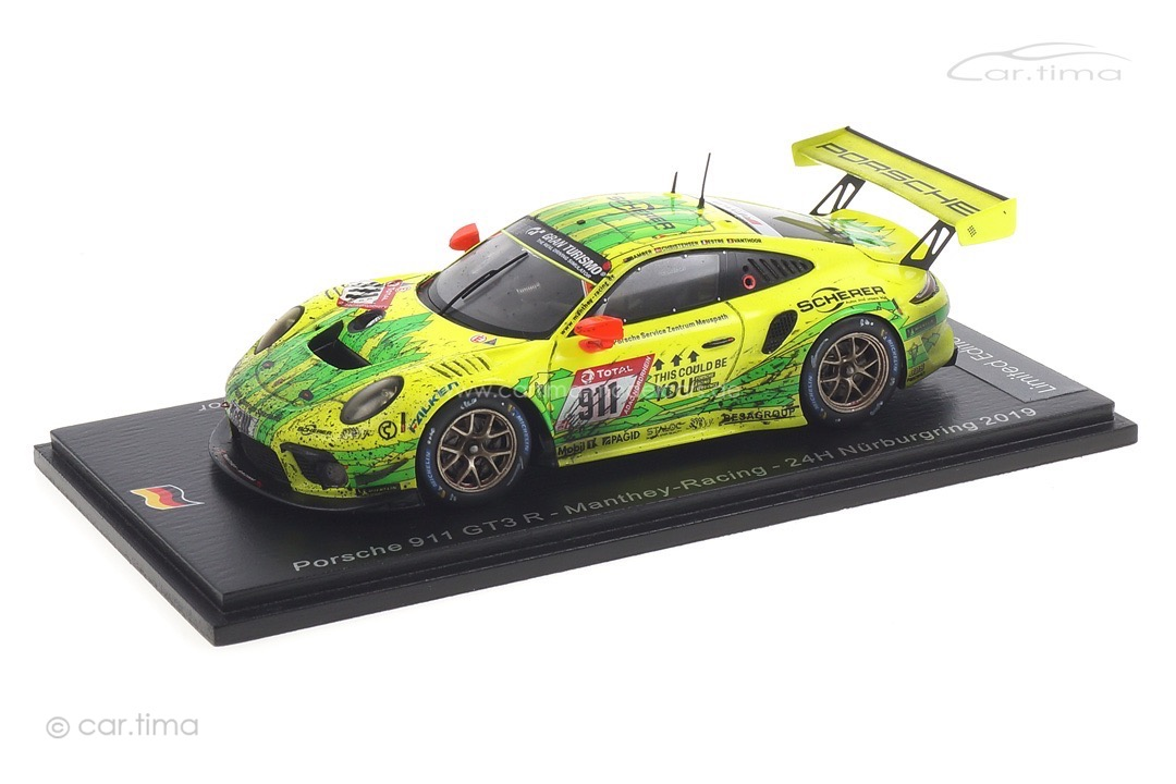 "Porsche 911 GT3 R 24h Nürburgring 2019 Manthey Racing ""Grello"" car.tima FINISH LINE 1:43"