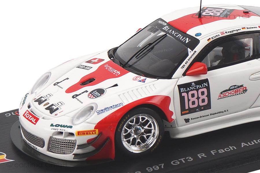 Porsche 911 (997 II) GT3 R24h Spa 2014 Klohs/Ragginger/Dolenc Spark 1:43 SB081