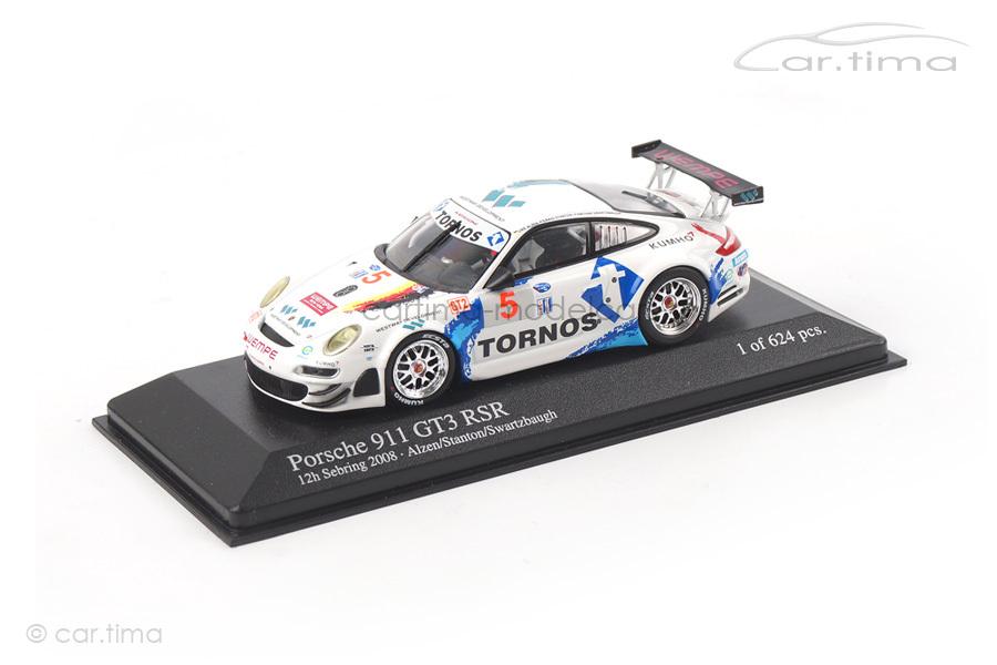 Porsche 911 GT3 RS 12h Sebring 2008 Alzen/Stanton Minichamps 1:43 400087805