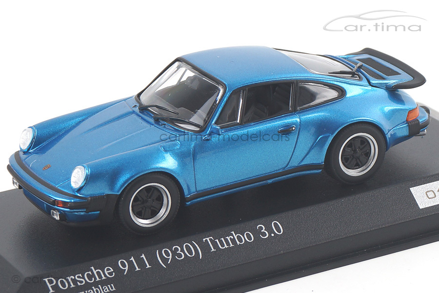 Porsche 911 (930) Turbo 3.0 Minervablau Minichamps car.tima EXCLUSIVE 1:43 CA04316030