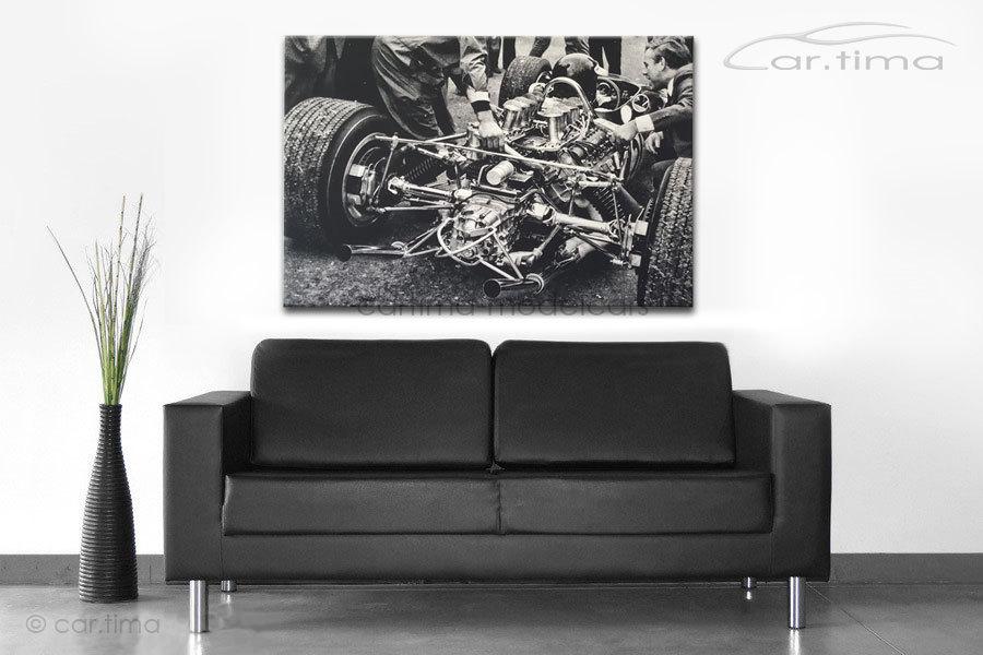 Kunstdruck auf Leinwand/Keilrahmen Boxengasse 115x80 cm