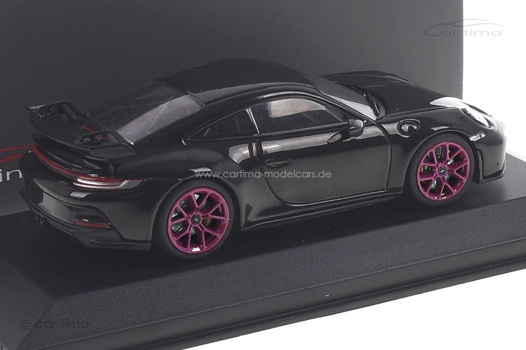 Porsche 911 (992) GT3 Tiefschwarzmet./Rad sternrubin Minichamps car.tima CUSTOMIZED 1:43