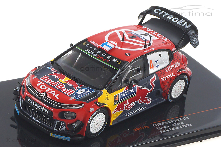 Citroen C3 WRC Rallye Finnland 2019 Lappi/Ferm IXO 1:43 RAM725