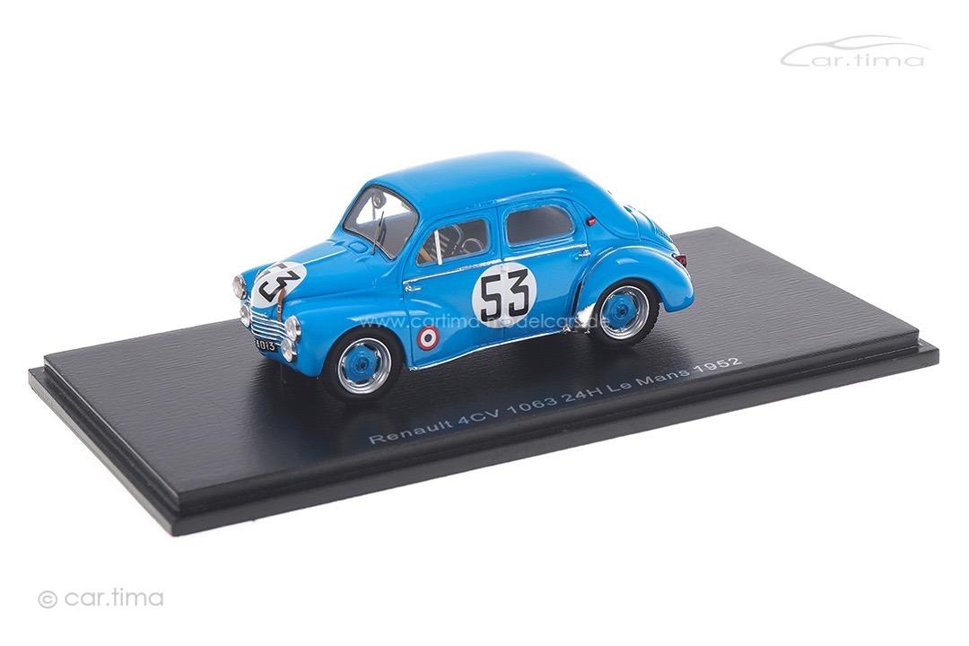 Renault 4CV 1063 24h Le Mans 1952 Briat/Lesur Spark 1:43 S5225