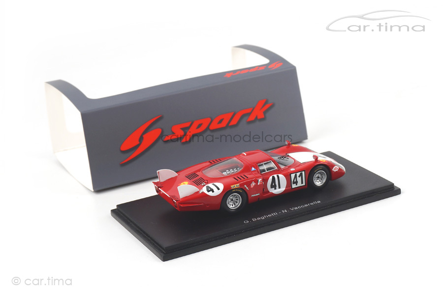 Alfa Romeo 33/2 24h Le Mans 1968 Baghetti/Vaccarella Spark 1:43 S4370