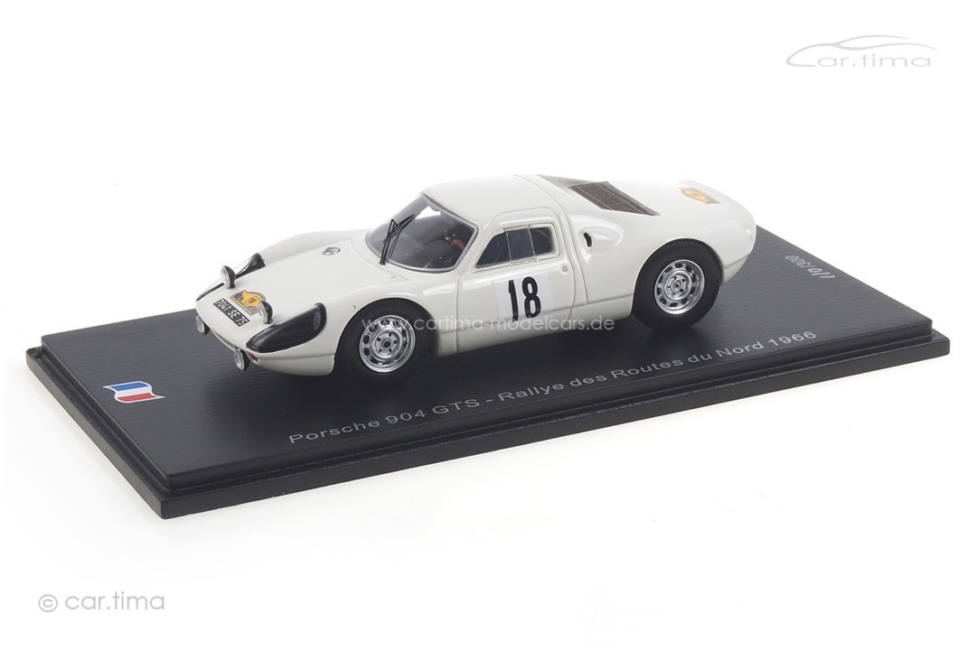 Porsche 904 GTS Rallye des Routes du Nord 1966 Schlesser/Schlesser Spark 1:43 SF166