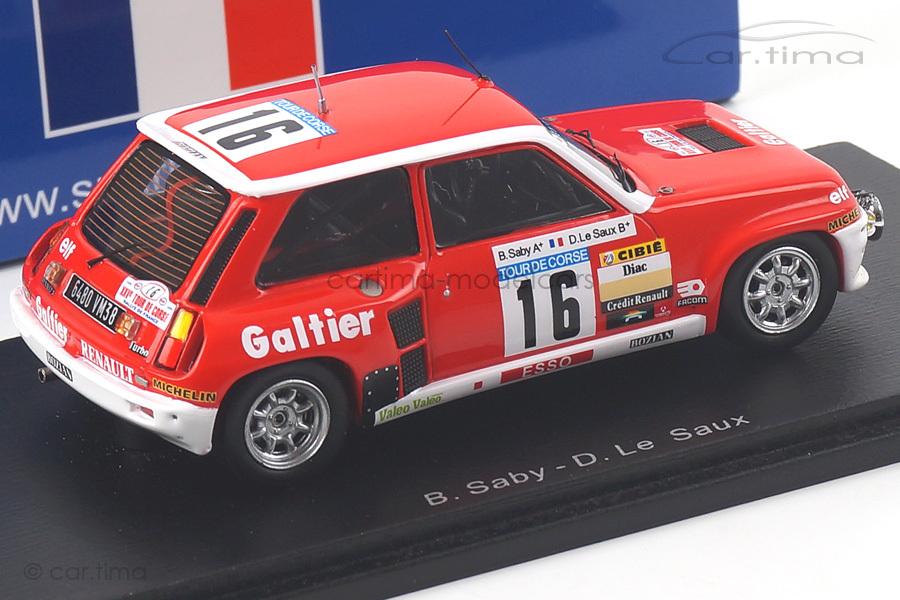 Renault R5 Turbo Tour de Corse 1981 Saby/Le Saux Spark 1:43 SF100