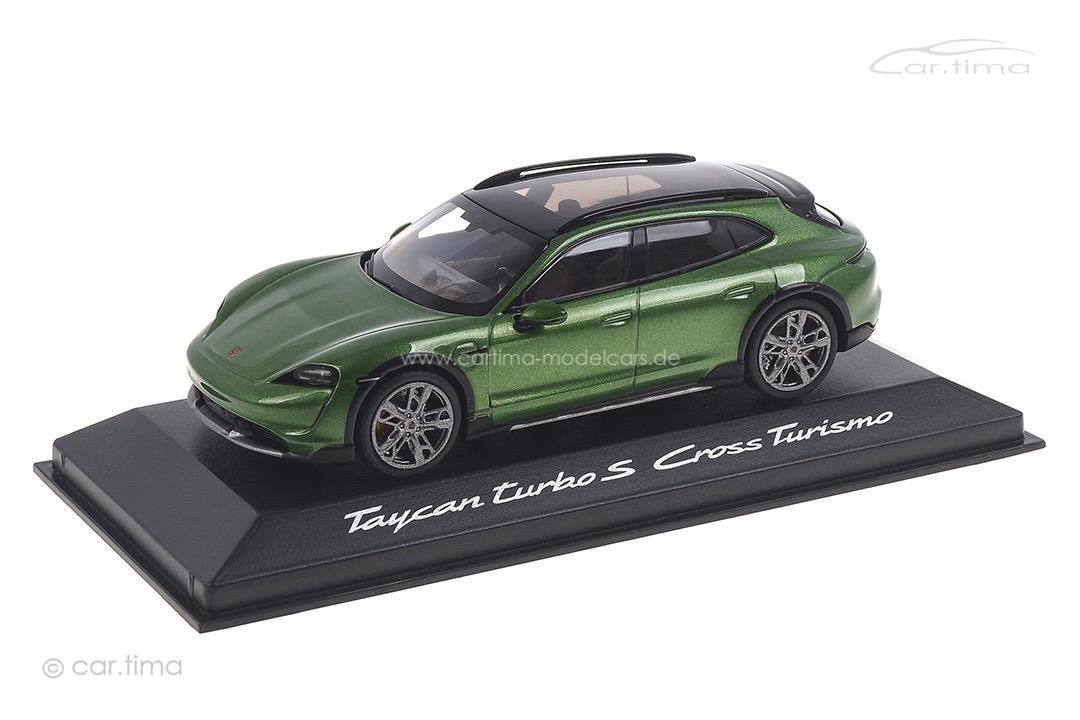 Porsche Taycan Turbo S Cross Turismo Mambagrünmet. Minichamps 1:43 WAP0207830M003
