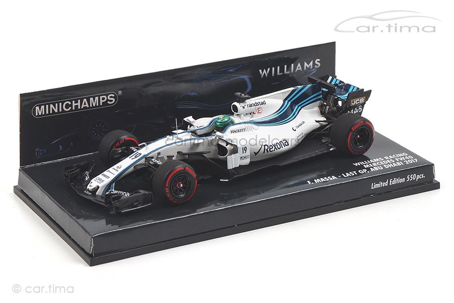 Williams Racing Mercedes FW40 Abu Dhabi GP 2017 Felipe Massa Minichamps 1:43 417172019