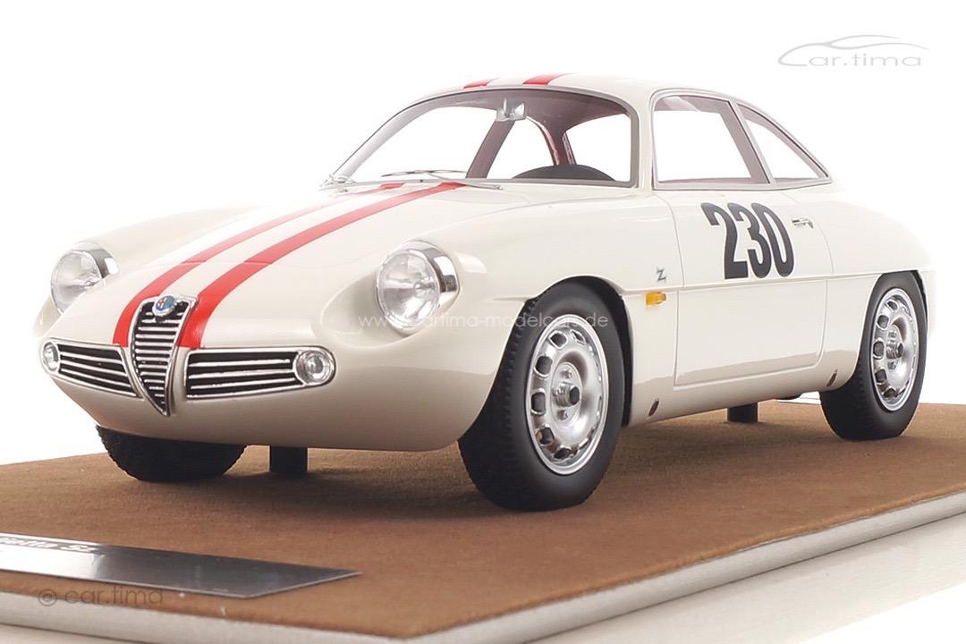 Alfa Romeo Giulietta SZ Schauinsland 1962 Toni Fischhaber Tecnomodel 1:18 TM18-42E