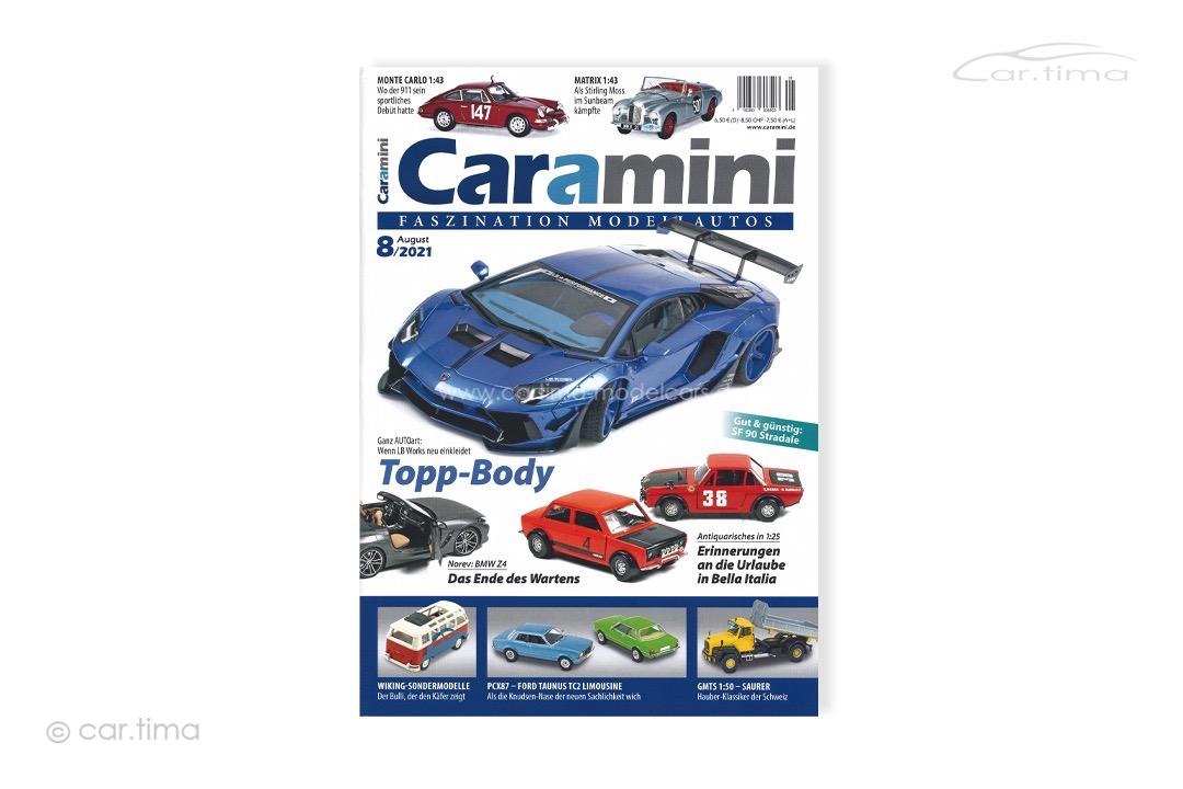 Zeitschrift / Magazine caramini Faszination Modellautos 08/2021 Expromo Verlag