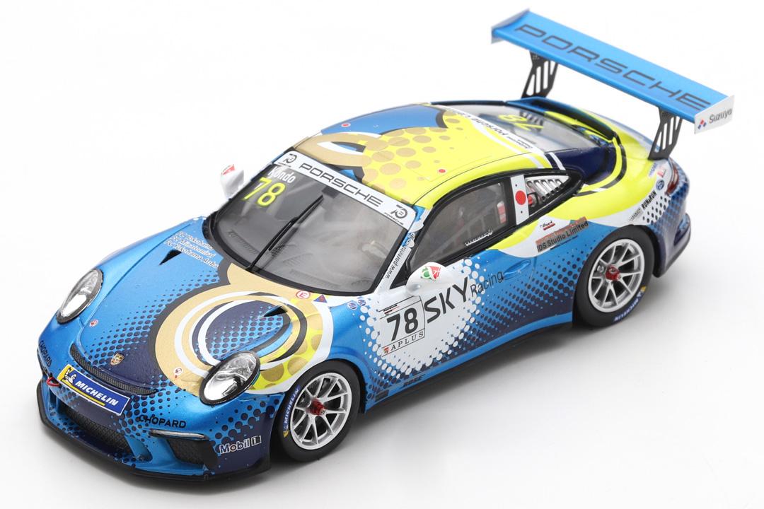 Porsche 911 (991) GT3 Cup Champion Carrera Cup Japan 2018 Kondo Spark 1:43 SJ066