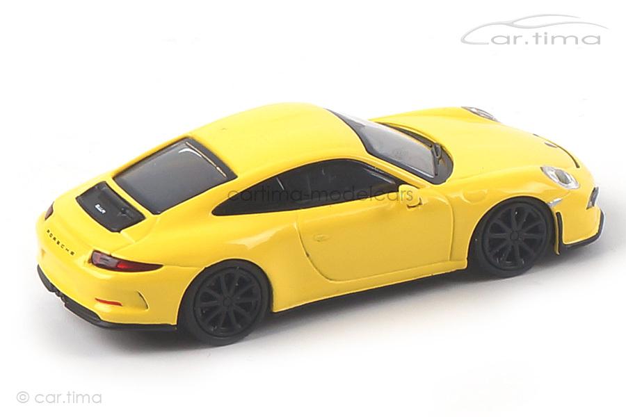 Porsche 911 (991) R racinggelb/Räder schwarz Minichamps 1:87 870066224