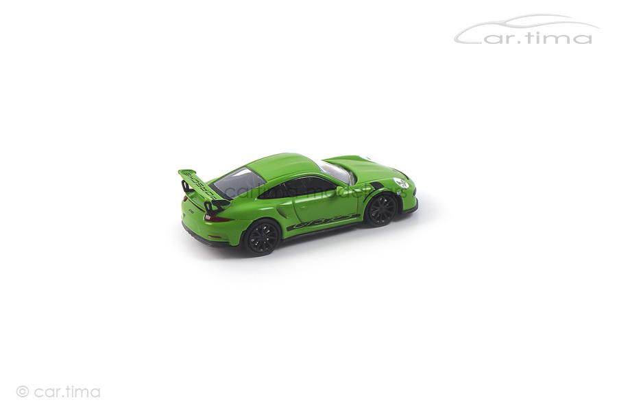 Porsche 911 (991) GT3 RS Gelbgrün/Dekorstreifen schwarz Minichamps 1:87 870063224