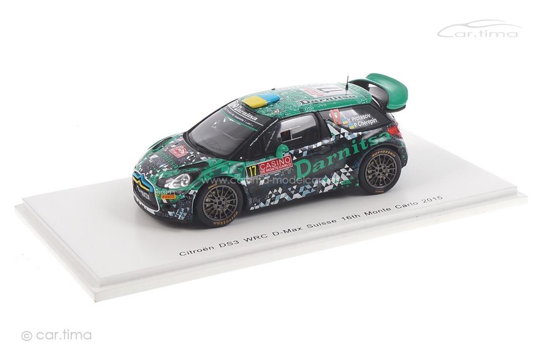 Citroen DS3 WRC Rallye Monte Carlo 2015 Protasov/Cherepin Spark 1:43 S4512