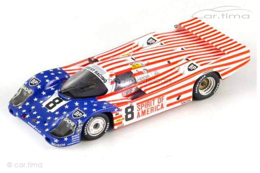 Porsche 956 L 24h Le Mans 1986 Follmer/Miller/Morton Spark 1:64 Y176