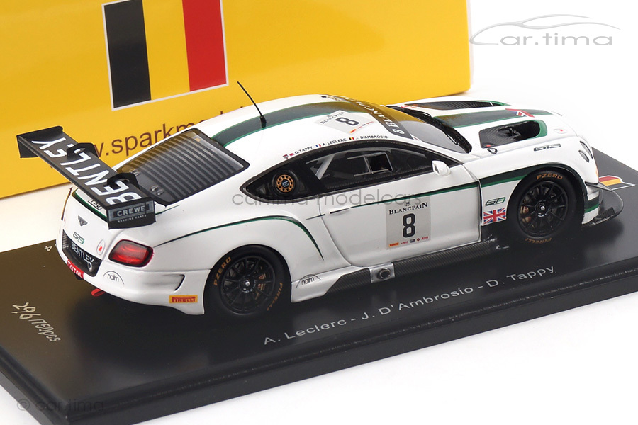 Bentley Continental GT3 24h Spa 2014 D´Ambrosio/Leclerc/Tappy Spark 1:43 SB079