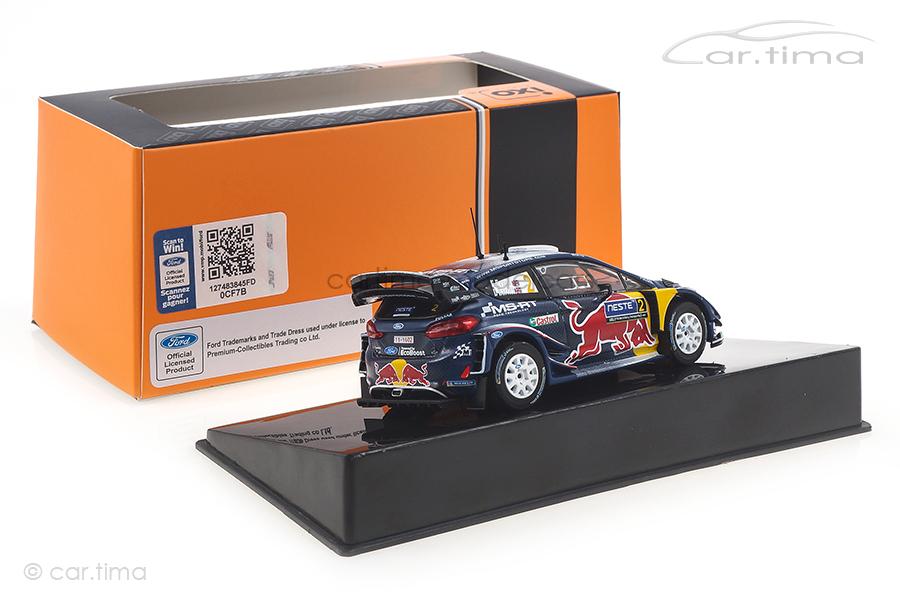 Ford Fiesta WRC Rallye Finnland 2018 Evans/Barritt IXO 1:43 RAM685