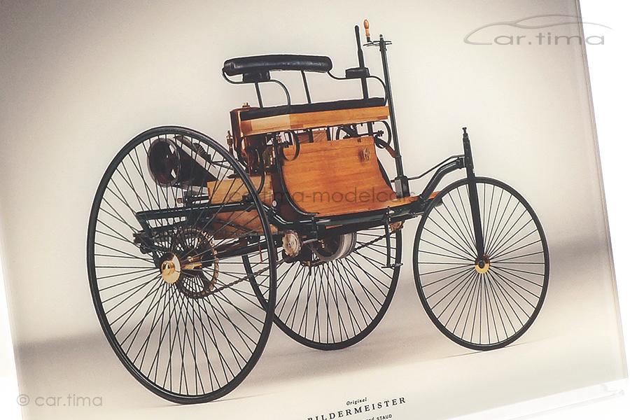 Bildermeister MINIpic Mercedes-Benz Patent-Motorwagen 1886 Acrylglas-Aufsteller 21 cm x 30 cm