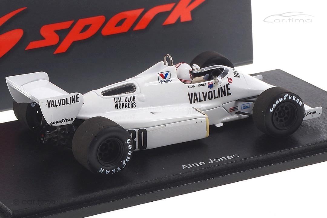 Arrows A6 GP Long Beach 1983 Alan Jones Spark 1:43 S5780