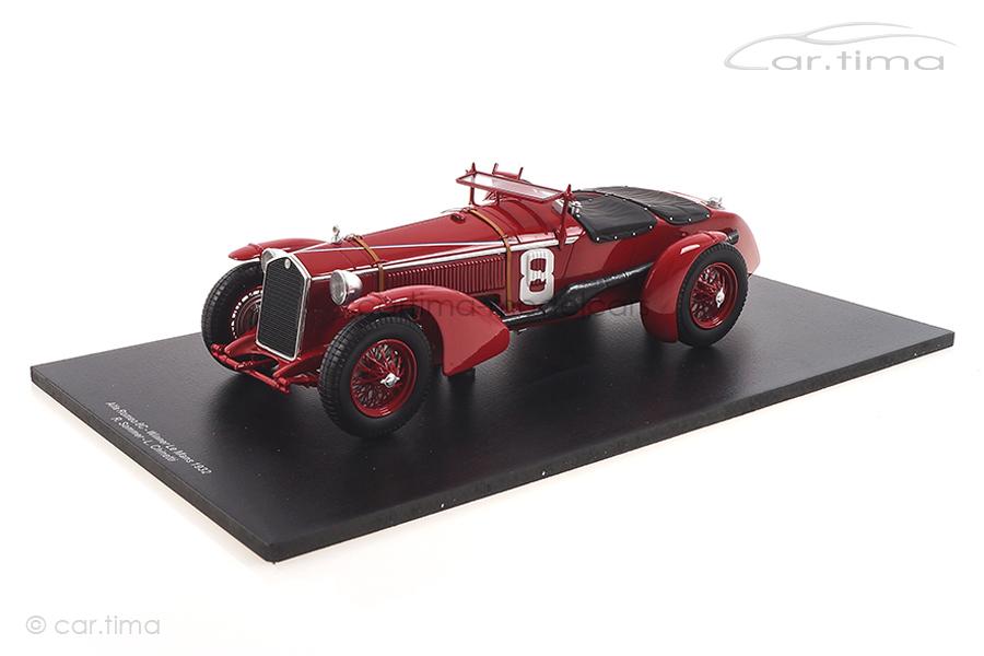Alfa Romeo 8C Winner 24h Le Mans 1932 Chinetti/Sommer Spark 1:18 18LM32