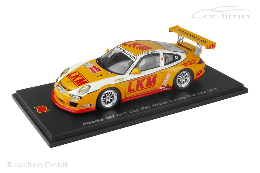 Porsche 911 (997 II) GT3 Cup Winner Carrera Cup Asia 2011 Keita Sawa Spark 1:43 SA013