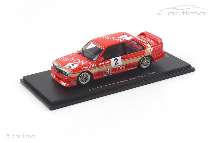 BMW M3 Winner Macau 1988 Altfrid Heger Spark 1:43 SA035