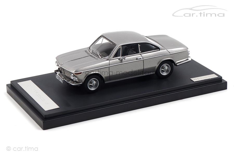 BMW 1602 Baur Coupe 1967 silber Matrix 1:43 MX30202-012