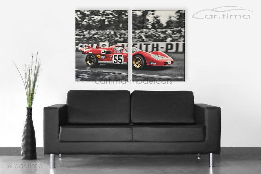 Kunstdruck auf Leinwand/Keilrahmen Ferrari 512 120x80,5 cm
